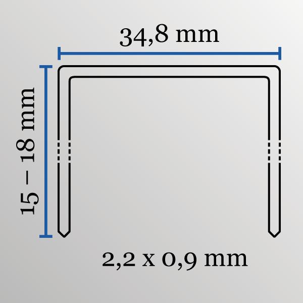Kartonkrammen type 35/18 mm staal